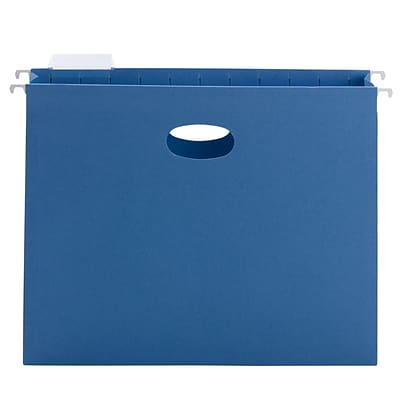 Smead® Hanging File Pocket with Tab, 2 Expansion, 1/5-Cut Adjustable Tab, Letter Size, Sky Blue, 25/Box (64250)