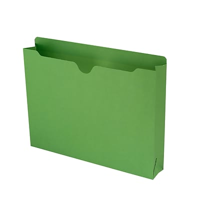 Smead® Letter Recycled File Jacket with 2 Expansion, Green, 50/Pack