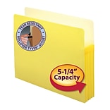 Smead® File Pocket, Straight-Cut Tab, 5-1/4 Expansion, Letter Size, Yellow (73243)