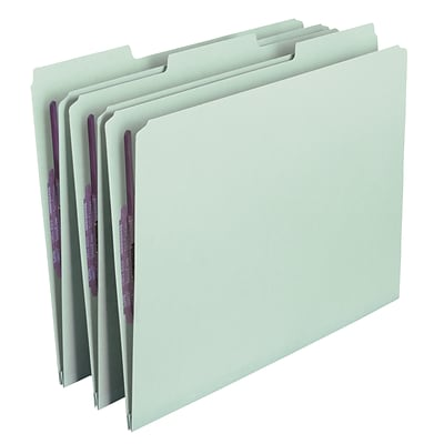 Smead® Pressboard Fastener Folder w/SafeSHIELD® Coated Fastener, 1/3-Cut, Letter Size, 1 Expansion