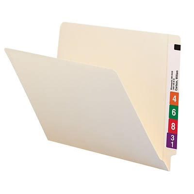 Smead® Shelf-Master Reinforced End-Tab File Folders, Letter, Manila, 100/Bx (24110)