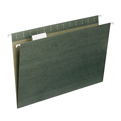 Smead® Standard Green Hanging File Folders, 1/5-Cut, Legal Size