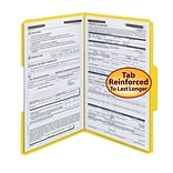 Smead® Fastener File Folder, 2 Fasteners, Reinforced 1/3-Cut Tab, Legal Size, Yellow, 50/Box (17940)