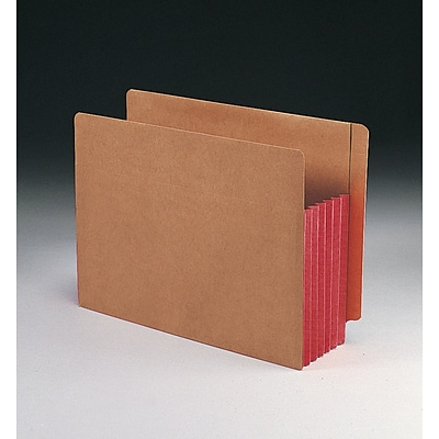 Smead® Redrope Drop-Front End Tab File Pockets with Colored Tyvek® Gussets (73696); Letter Size, Red