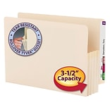 Smead® End-Tab Manila File Pockets, Legal Size, 3-1/2 Expansion
