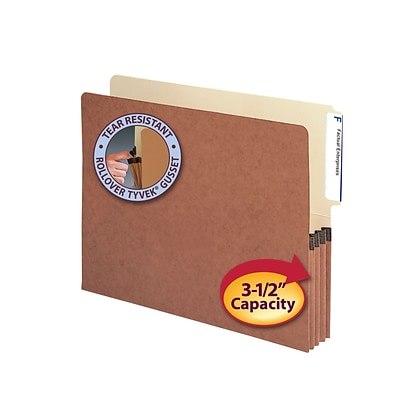 Smead® End-Tab File Pockets with Manila Liner, Letter Size