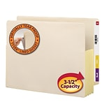 Smead® Manila/Tyvek 3-1/2 Expansion File Pockets, Letter Size, 10 Per Box