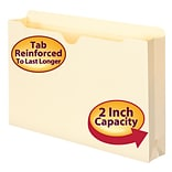 Smead® File Jacket, Reinforced Tab, 2 Expansion, Legal Size, Manila, 50/Box (76560)