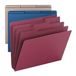 Smead® Colored Organizer Folders; Asstd, 1/3-Cut