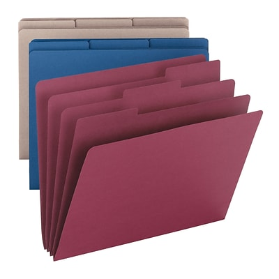 Smead SuperTab Coloring Folder, Oversized 1/3-Cut Tabs, Letter Size, 3 per Pack (11649)