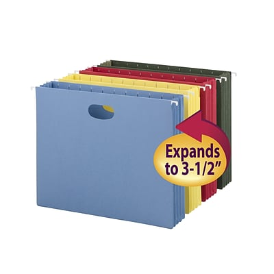 Smead® Colored Hanging Pockets with Full Height Gussets