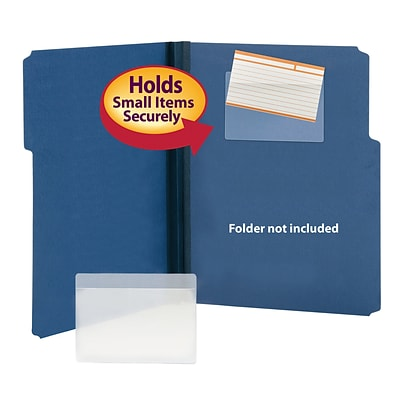 Smead Self-Adhesive Poly Index Card Pocket, 5 5/16H x 3 5/8W, Clear, 100/Box (68153)
