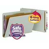 Smead® End Tab Pressboard Classification File Folder w/SafeSHIELD® Fasteners, 2 Expansion, Legal, G