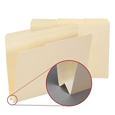 Smead® Letter 1/3 Cut Recycled File Folder w/1 1/2 Expansion, Manila, 50/Pack