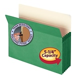 Smead® File Pocket, Straight-Cut Tab, 5-1/4 Expansion, Letter Size, Green, Each (73236)