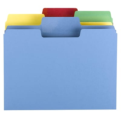 Smead® Erasable SuperTab Oversized 3-Tab Colored File Folders, Letter, Assorted, 24/Pk, (10480)