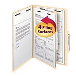 Smead® Legal 1 Divider Recycled Classification Folder w/2 Expansion, Manila, 10/Pack