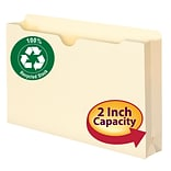 Smead® Legal Straight Cut Recycled File Jacket With 2 Expansion, Manila, 50/Box