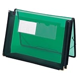 Smead® Poly Wallet, 2-1/4 Expansion, Flap and Cord Closure, Letter Size, Green (71951)