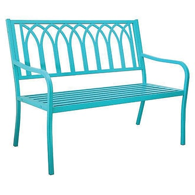 Innova Hearth & Home Lakeside Steel Bench; Soho Blue (RTL42192)