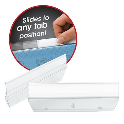 Smead Easy Slide™ Tab, 1/3-Cut, Clear, 18/Pack (64626)