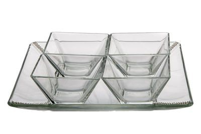 ClassicTouch 4 Bowl Relish Dish