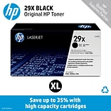 HP 29X Black Toner Cartridge (C4129X); High Yield