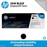 HP 304A Black Toner Cartridge, Standard (CC530A)