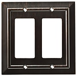 Franklin Brass Classic Architecture Double Decorator Wall Plate; Venetian Bronze