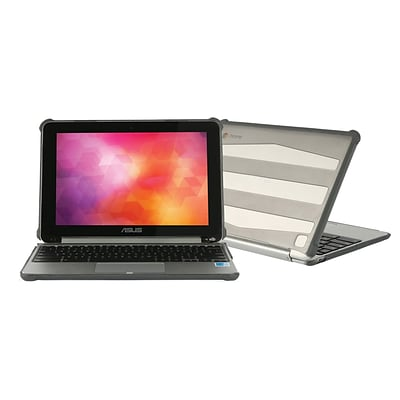 MAX CASES Extreme Shell TPU Case for 10.1 Asus C100 Flip Chromebook, Gray (AS-ES-C100-11-GRY)