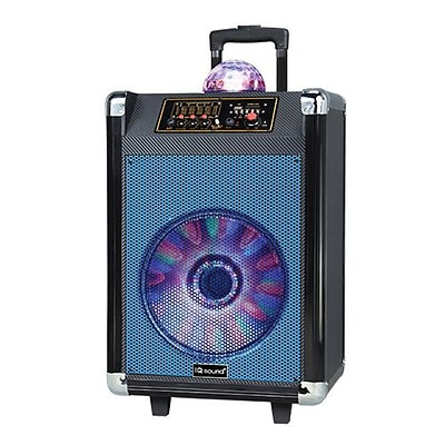 Supersonic® IQ Sound® IQ-3612DJBT Portable Bluetooth DJ Speaker with Disco Ball, Blue