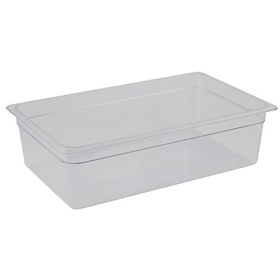 Cambro Camwear 8 Deep Clear Food Pan, 20 7/8  L x 12 3/4 W (75106)