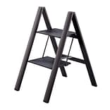 Slim Step Urbanity Step Ladder w/ 225 lb. Load Capacity; Black