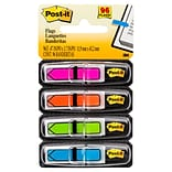 Post-it® Arrow Flags, 1/2 Wide, Assorted Colors, 96 Flags/Pack (684-ARR4)