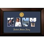 PATF Navy Collage Photo Legacy Picture Frame; Gold