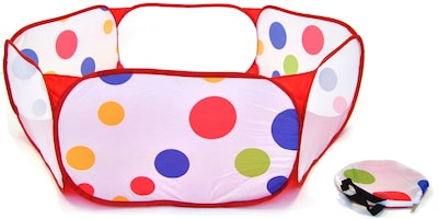 Hexagon Polka Dot Childrens Twist Playpen w/