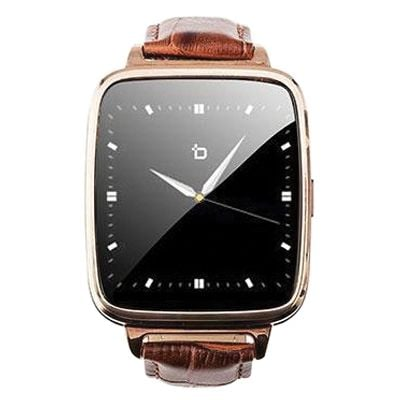 Bit Smart Watch With Leather Strap, Gold/brown (s1g)