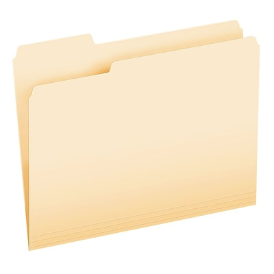 Pendaflex File Folder, 1/3 Assorted Tab Cut, Manila, LETTER-size Holds 8 1/2 x 11, 100/Bx