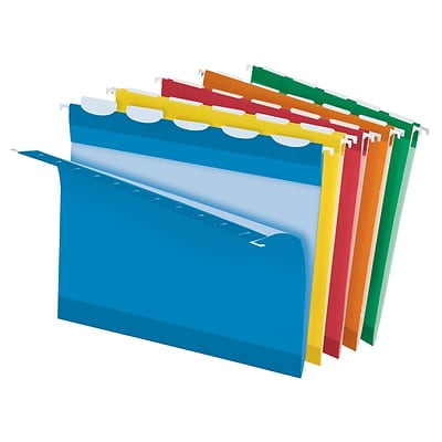 Pendaflex® Ready Tab® Hanging File Folders, Letter, 1/5-Cut, Assorted Colors