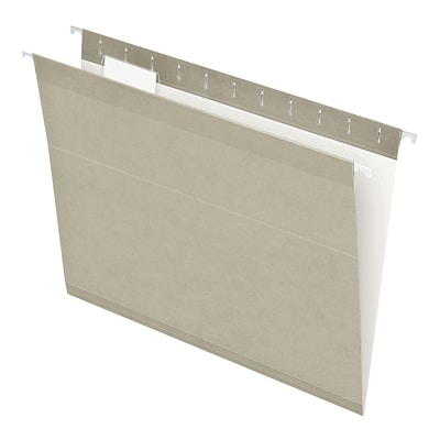 Pendaflex® Recycled Colored Hanging File Folders, Letter Size, Grey