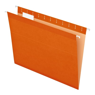 Pendaflex® Recycled Colored Hanging File Folders, Letter Size, Orange