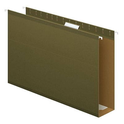 Pendaflex® Extra Capacity Reinforced Hanging Folders, 3, 5 Tab, Legal Size, Standard Green, 25/box (4153X3)