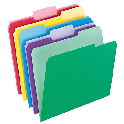 Pendaflex® File Folders with InfoPocket®, Assorted Colors, LETTER-size Holds 8 1/2 x 11 Size, 30/Bx