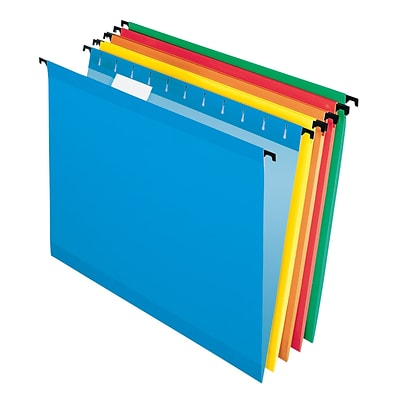 Pendaflex® SureHook® 5-Tab Hanging File Folders, Letter Size, Multicolor, 20/Box (6152 1/5 ASST)