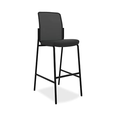 basyx by HON® HVL528 Armless Cafe-Height Stool, Black, 20.0W x 18.0D, 17.0W x 19.0H, 2/Carton