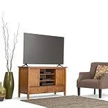 Simpli Home Warm Shaker Wooden TV Stand; Honey Brown