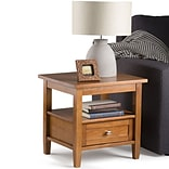 Simpli Home Warm Shaker 19 1/2H x 20W x 18L Solid Wood End Table; Honey Brown