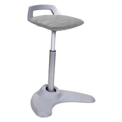 Alera® Sit to Stand Perch Stool, Gray with Silver Base