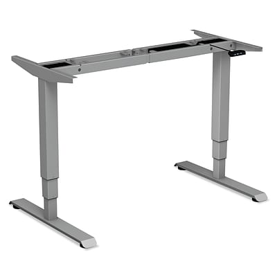 Alera® 3-Stage Electric Adjustable Table Base w/Memory Controls, 25? to 50 3/4?H, Gray