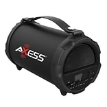 Axess® Indoor/Outdoor HIFI Bluetooth Speaker with 4 Subwoofer/Vibrating Disk, Black (SPBT1037)